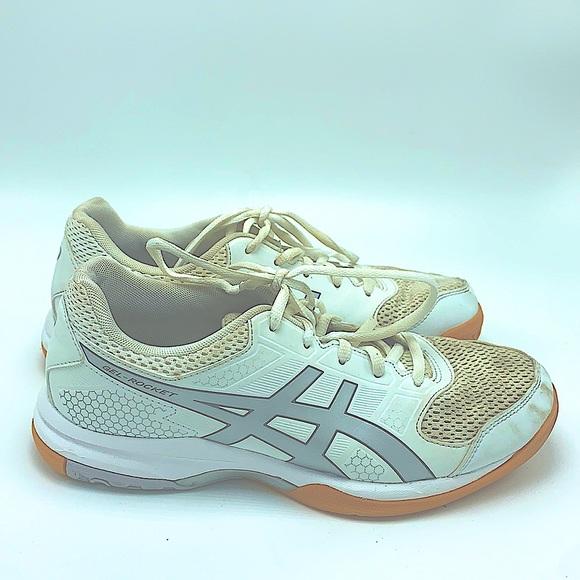 ASICS gel rocket white sneakers size 8